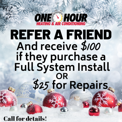 Refer a Friend and revive $100 if purchasing a full system of 25$ for repairs coupon